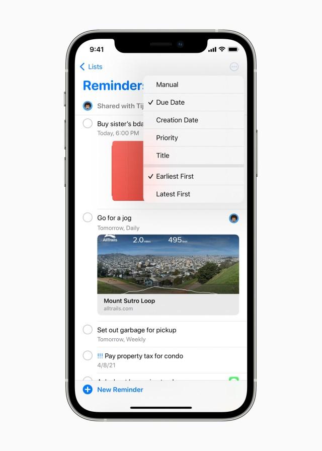 Apple rappels iOS 14.5