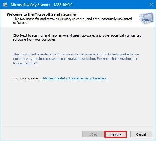 Microsoft Safety Scanner Privacy
