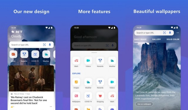 Mircosoft Bing app