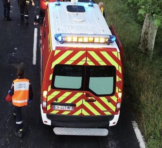 Une ambulance des sapeurs-pompiers de l'Hérault en intervention
