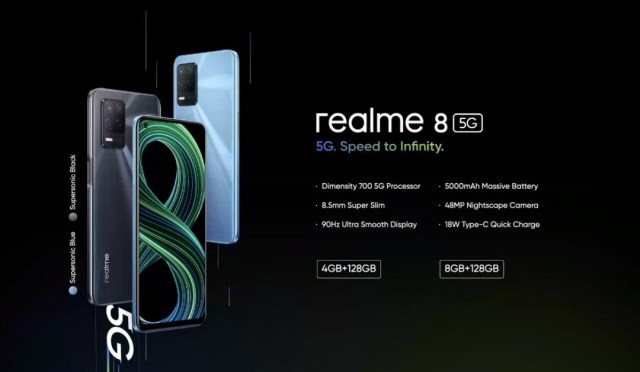 Realme 8 5G arrives with Dimensity 700 chip, 90 Hz LCD and 5,000 mAh battery