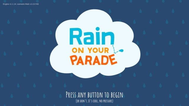 Rain On Your Parade Opening Screen