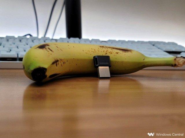 Samsung Fit Plus Usb Flash Drive Close Banana