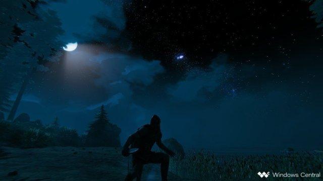Valheim Night Sneak Moon Ocean
