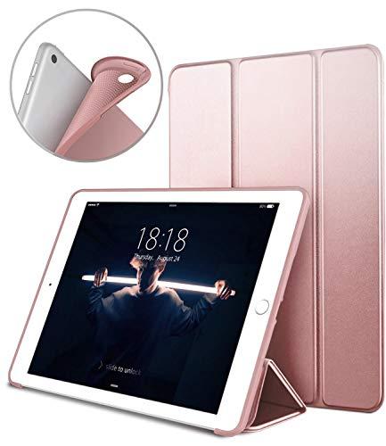 """Coque iPad 2018, Nouvel iPad 6ème 5ème génération Coque, VAGHVEO Étui pour iPad 2018/2017 9,7 Pouces Smart Cover Case (Réveil/Sommeil Automatique) Housse TPU Souple pour Apple iPad 9.7"""", Or Rose"""