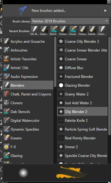Blender Selection Box in Corel Painter 2019