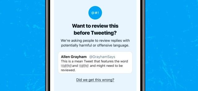 Message d'avertissement sur Twitter