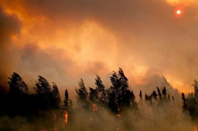 Un incendie près de Willow, en Alaska, aux Etats-Unis, le 14 juin 2015.