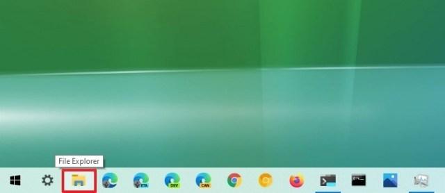 File Explorer taskbar button