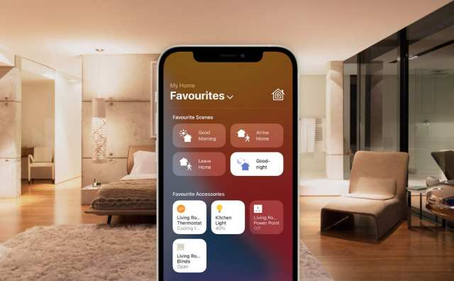 Good-night scene on Apple Home app