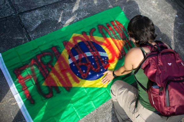 Le mot d'ordre de la manifestation était « Fora Bolsonaro ! » (« Bolsonaro dehors ! »).
