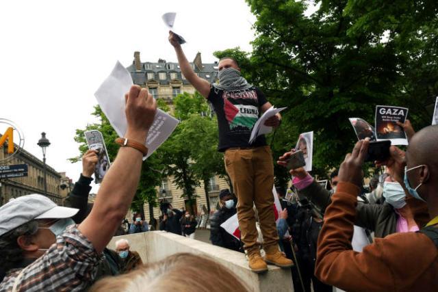 Manifestation de solidarité envers les Palestiniens, à Paris, le 12mai 2021.