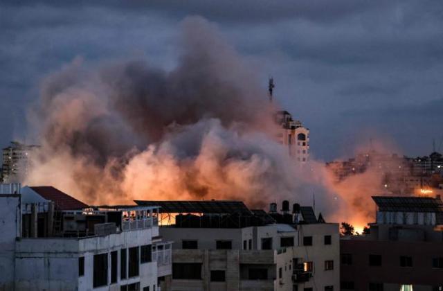 Une frappe sur la bande de Gaza, jeudi 20 mai 2021.