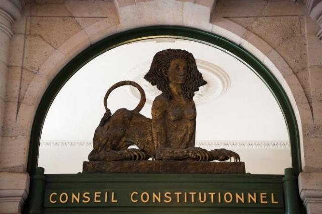 Le 21 juillet 2020, l'entrée du Conseil constitutionnel, à Paris.
