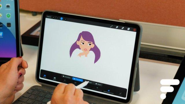 L'app ProCreate sur iPad Pro