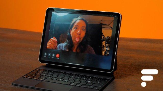 Le nouvel iPad Pro2021 profite de la fonction Cadre Centré qui vous met au cœur de la vidéo