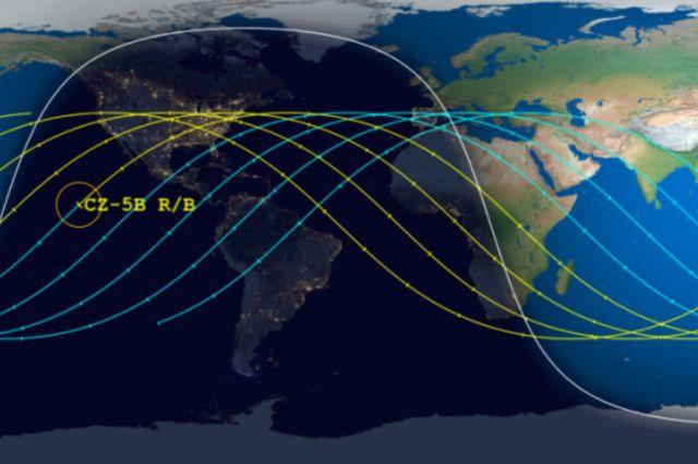 trajectoire fusée long March 5