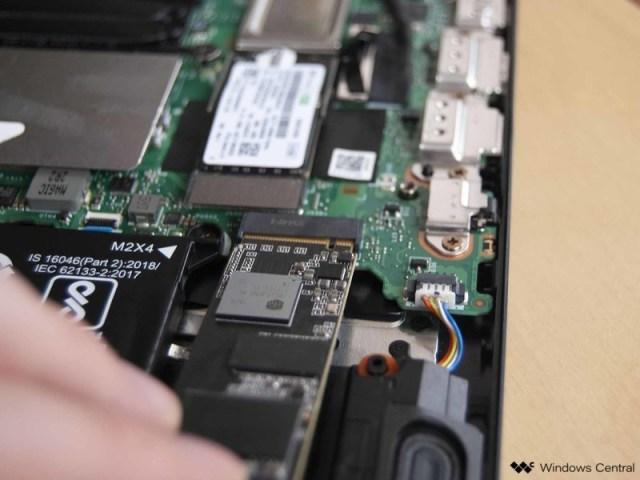 Insert the M.2 SSD