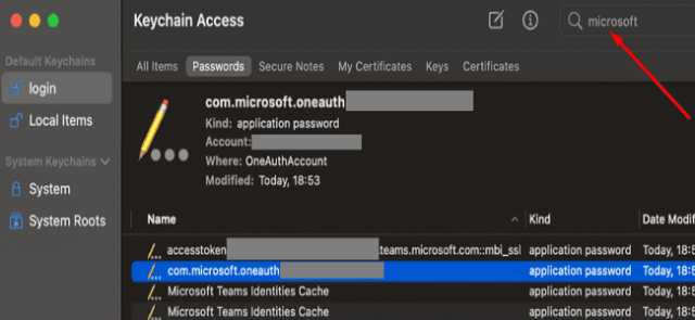 keychain-access-microsoft-teams