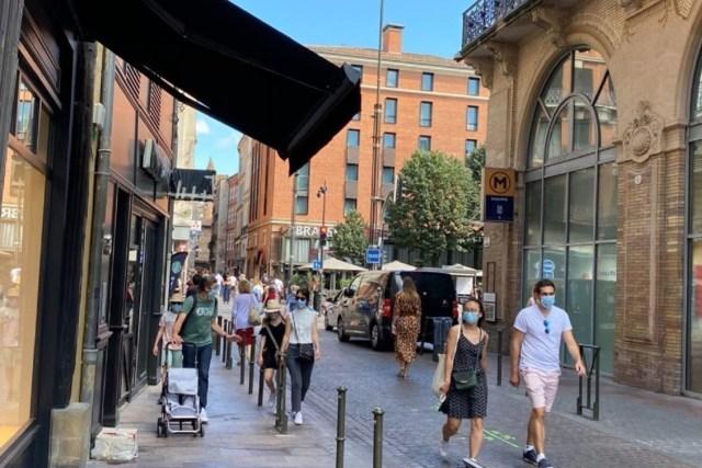 Le port du masque reste obligatoire en extérieur le samedi au centre-ville de Toulouse.