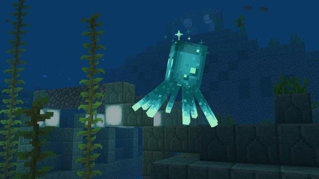 Minecraft Caves And Cliffs Update Glow Squid