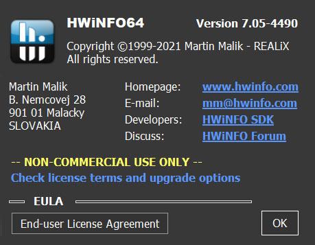 HWiNFO v7.05