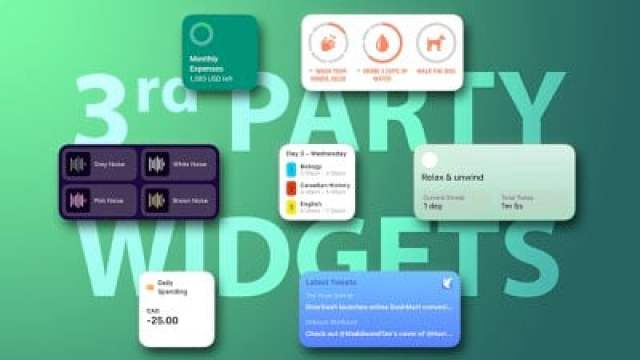 3rd party widgets feature 1