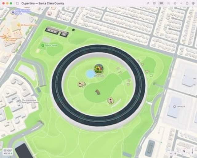 maps 3d view apple park
