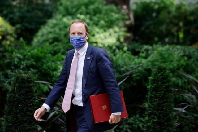 Le ministre de la santé britannique, Matt Hancock, le 15 juin 2021 à Londres.