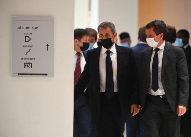 Nicolas Sarkozy au tribunal correctionnel de Paris, le 15 juin.