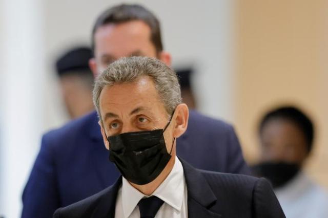 Nicolas Sarkozy au tribunal correctionnel de Paris, le 15 juin 2021.