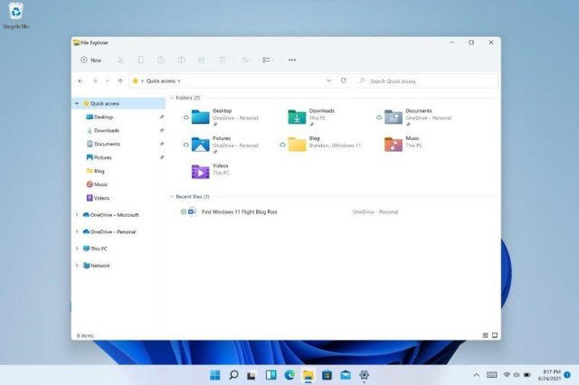 W11 Insider Changelog File Explorer