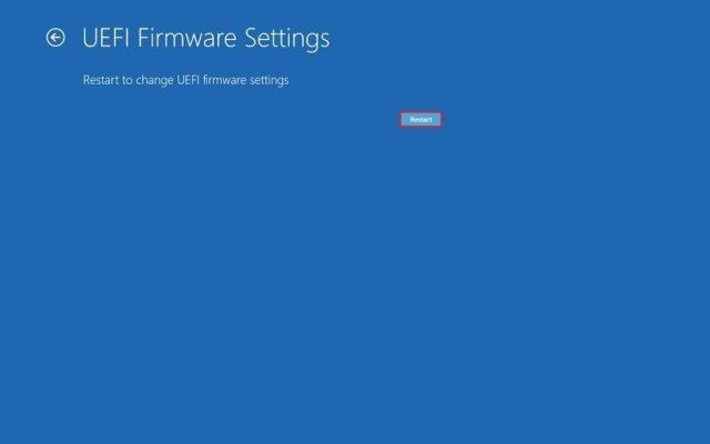 Windows 10 reboot to enter BIOS/UEFI