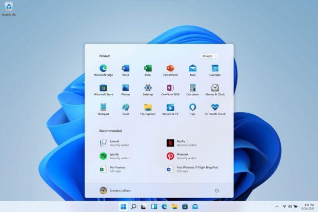 Windows 11 et le nouveau menu démarrer