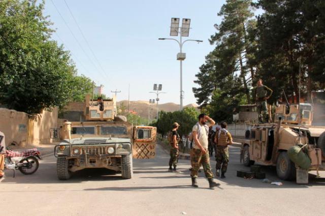 Des véhicules de l'armée afghane dans la province deBadghis, le 7 juillet 2021.