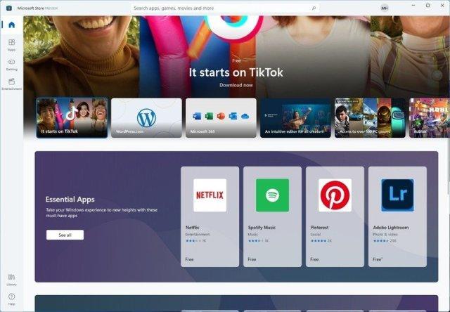 Microsoft Store app preview