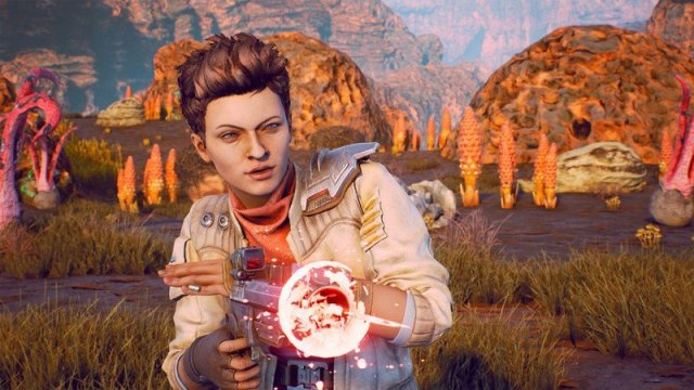 One of the companions from The Outer Worlds, Ellie.