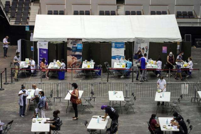 Un centre de vaccination à Lyon, mercredi 7 juillet 2021.