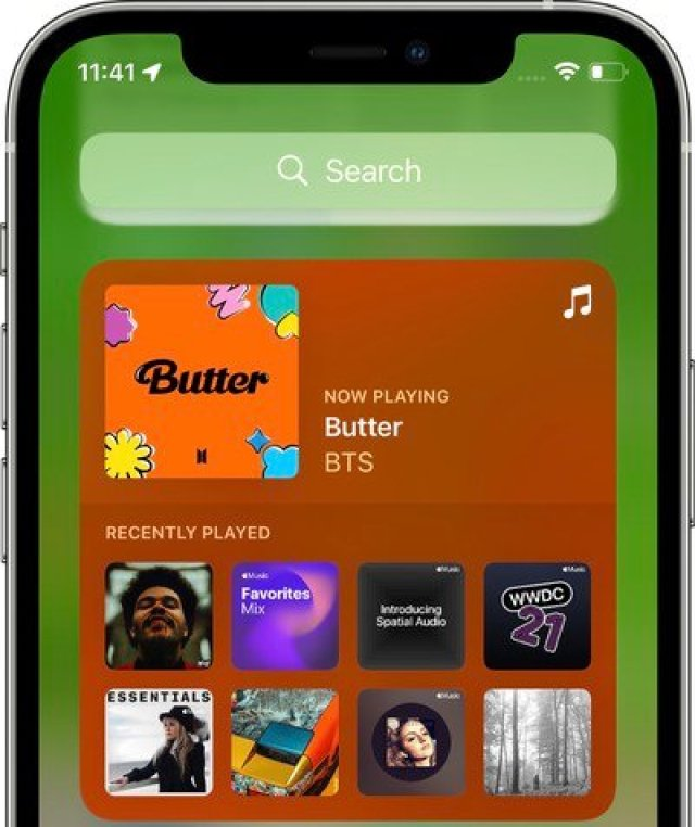 apple music widget ios 15