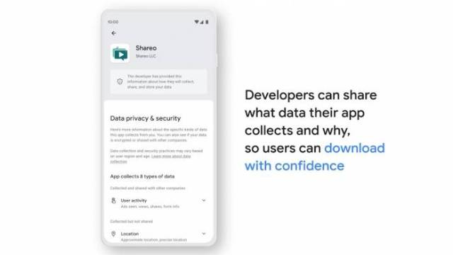 Google Play safety section details 2