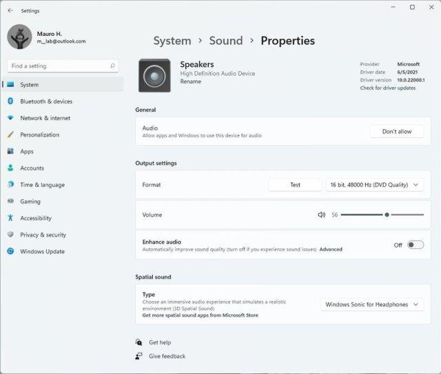Windows 11 system sound properties