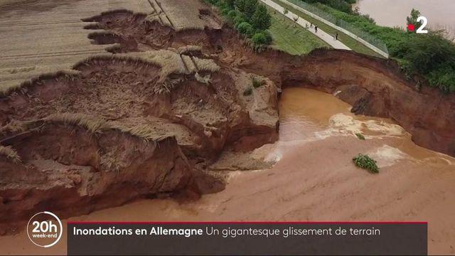 Inondations en Allemagne :glissement de terrain ravageur dans la commune d'Erftstadt
