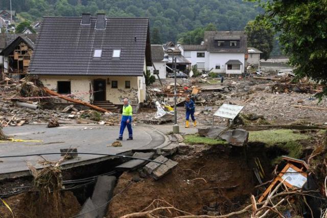 Dans la commune de Schuld, en Rhénanie-Palatinat (ouest de l'Allemagne), vendredi 16juillet 2021.