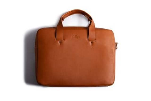 Harber London Leather Briefcase WB 1