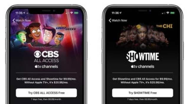 apple tv cbs showtime bundle
