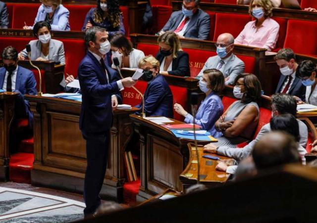Le ministre français de lasSanté, Olivier Veran, à l'Assemblée nationale, à Paris, le 20juillet2021.