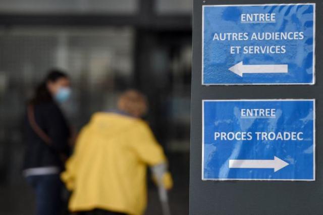 Au procès de l'affaire Troadec, à la cour d'assises de la Loire-Atlantique, le 7 juillet 2021.