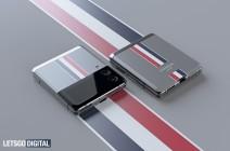 Speculative renders of Samsung Galaxy Z Flip3 Thom Browne edition