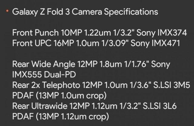 Samsung Galaxy Z Fold3's camera setup to offer small upgrade, ultrawide gets AF
