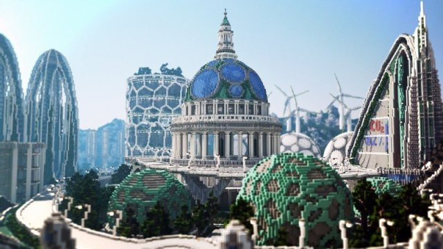 Minecraft BlockWorks Climate Hope City